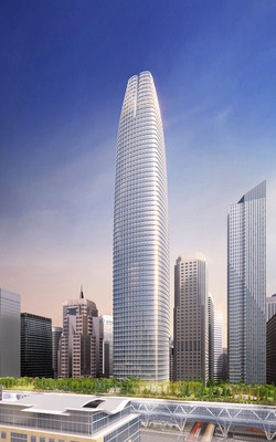 Transbay Transit Tower, designed by Pelli Clarke Pelli Architects, will be the tallest building in San Francisco. Officials ceremonially broke ground for the tower Wednesday. (PRNewsFoto/Pelli Clarke Pelli Architects) (PRNewsFoto/PELLI CLARKE PELLI ARCHITECTS)