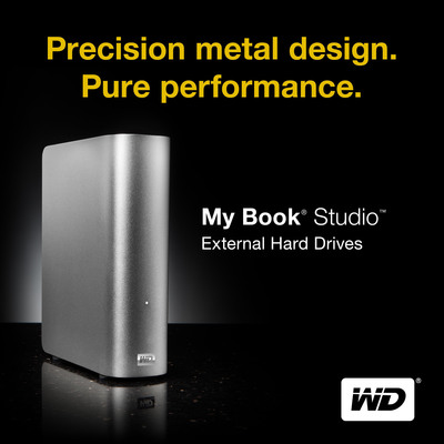 WD's New My Book Studio Drive Matches Mac Aesthetics and Performs to Creative Pro Standards. (PRNewsFoto/Western Digital Technologies)