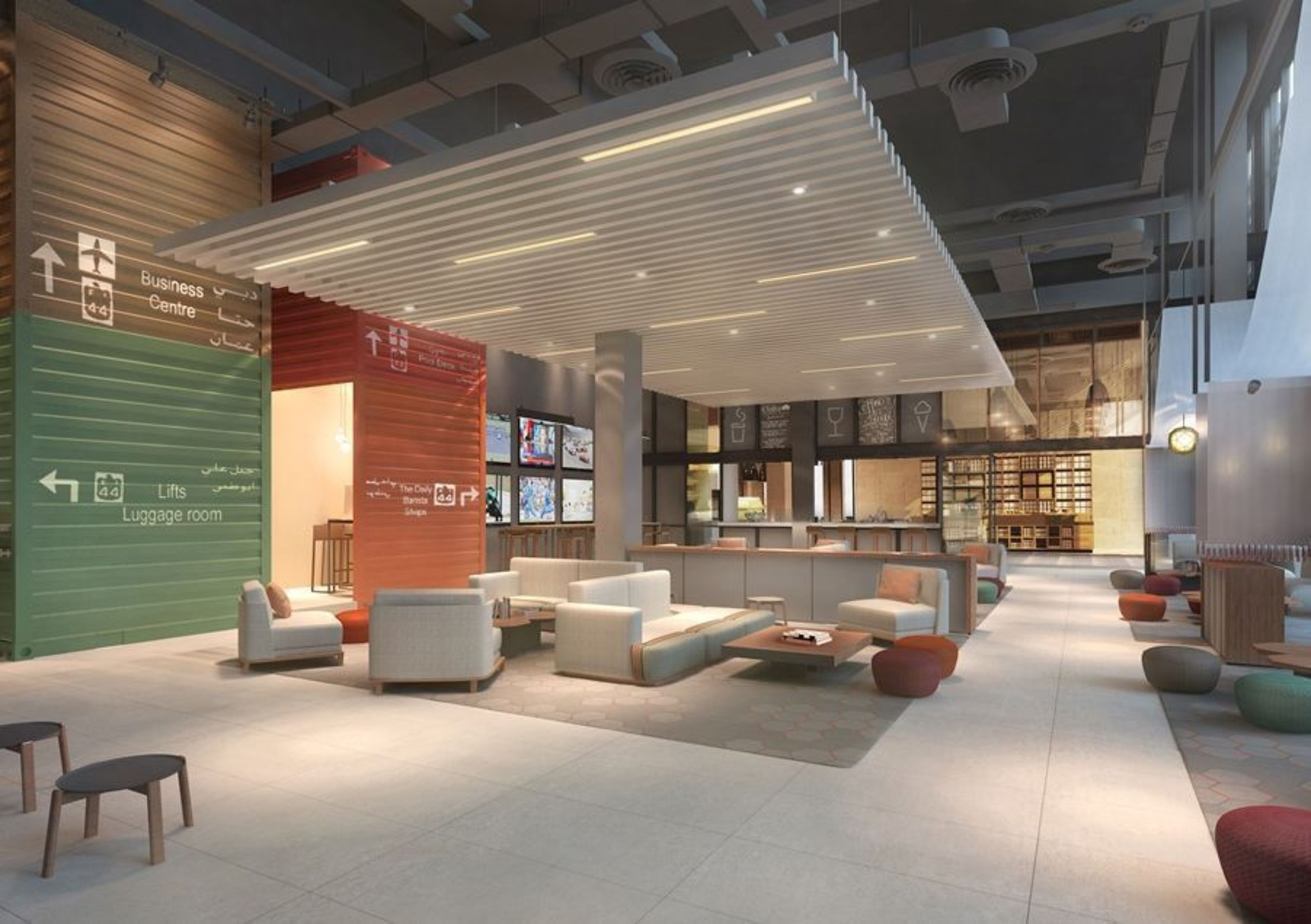 Artist rendering of The Lounge at Rove Za'abeel (PRNewsFoto/Emaar Hospitality Group)
