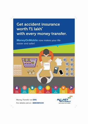 MoneyOnMobile Rolls Out First-of-its-kind Personal Accident Insurance Cover for Customers (PRNewsFoto/My Mobile Payments Limited)
