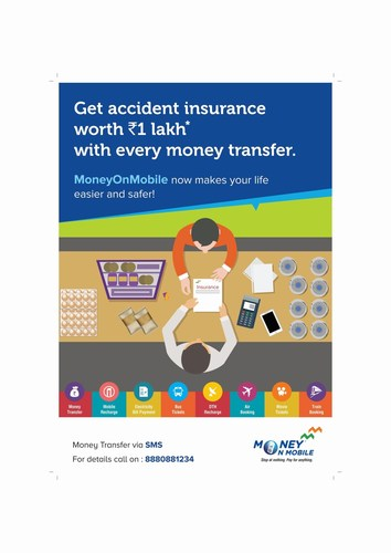 MoneyOnMobile Rolls Out First-of-its-kind Personal Accident Insurance Cover for Customers (PRNewsFoto/My Mobile Payments Limited) (PRNewsFoto/My Mobile Payments Limited)