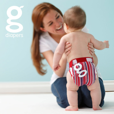 Bang the drums! Blast the horns! Grandstand Stripe gPants are here!  (PRNewsFoto/gDiapers)