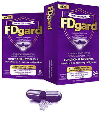 New, non-prescription FDgard, a product for Functional Dyspepsia (FD), also known as persistent or recurring indigestion, now available nationwide