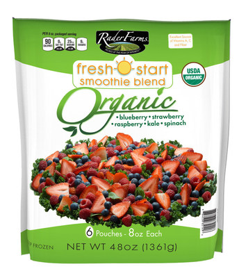 "Rader Farms(R) Adds organic variety to its FRESH START line of fruit and vegetable smoothie ""starter"" kits. Available at select Costco(R) stores. Visit www.raderfarms.com for more information."