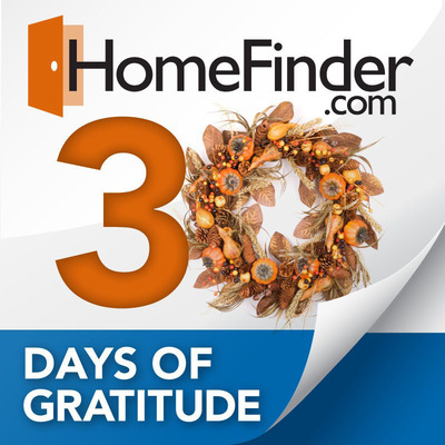 HomeFinder.com 30 Days of Gratitude Contest.  (PRNewsFoto/HomeFinder.com)