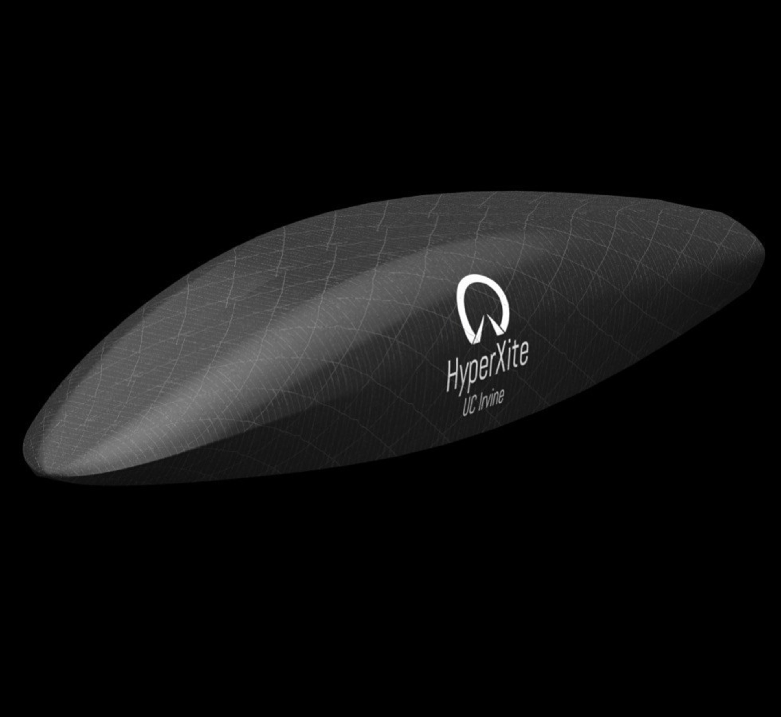 Isometric view of the HyperXite pod design used for ANSYS simulation by the University of California, Irvine Hyperloop HyperXite team