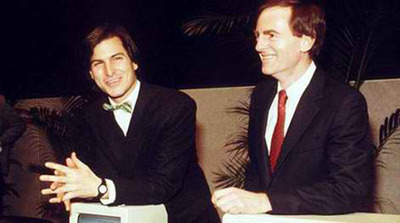 Steve Jobs and John Sculley in the early days of Apple. John will be a key part of The Un-Conference: 360 degrees of Brand Strategy for a Changing World May 16-17, 2013 in San Diego, California.  (PRNewsFoto/The Blake Project and Branding Strategy Insider)