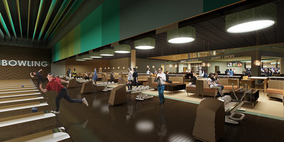 Interior rendering of the bowling area for Amarillo