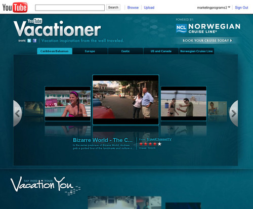 YouTube Launches New Travel Channel Powered by Norwegian Cruise Line