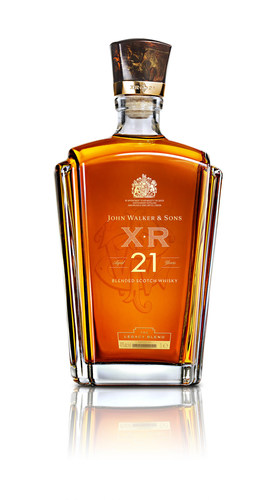 The elegant 1 litre JOHN WALKER & SONS XR 21 Year Old decanters are evocative of the grand designs of the Art ...