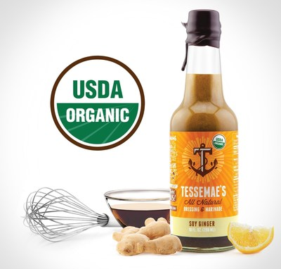 Tessemae's All Natural, the nation's leading fresh condiment company will add 100% USDA Organic certified to their current line of gluten free, dairy free, no sugar added, and Whole30 approved products.