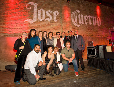 Jose Cuervo Tradicional, NALAC and the Tradicional Mural Project finalists celebrate the unveiling of the 10 original murals in Chicago, IL. The finalists will enter the voting phase in January 2013.  (PRNewsFoto/DIAGEO)