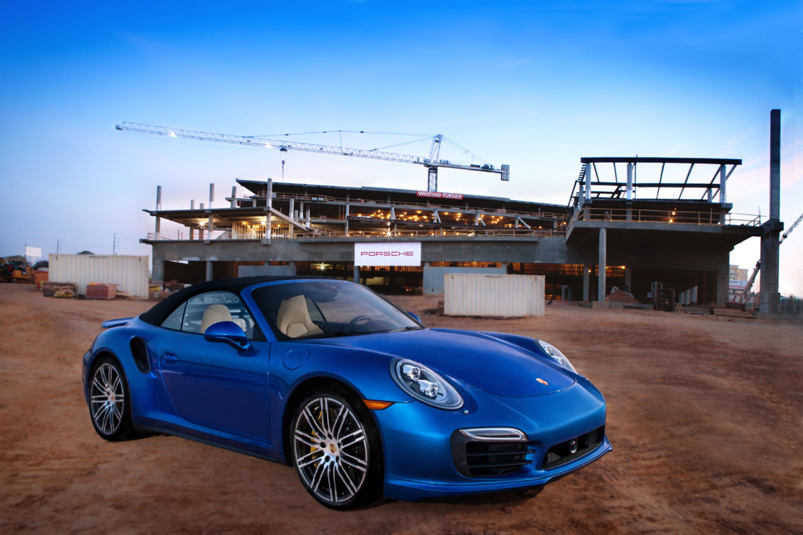 Where a vision becomes reality: Porsche Celebrates Topping Out of its Future Headquarters in Atlanta (PRNewsFoto/Porsche Cars North America, Inc.)
