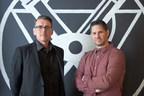 TracyLocke CEO Hugh Boyle (left) and CCO Mike Lovegrove (right), standing in front of The Design Collective logo, will be putting craft, design and innovation at the heart of their business.