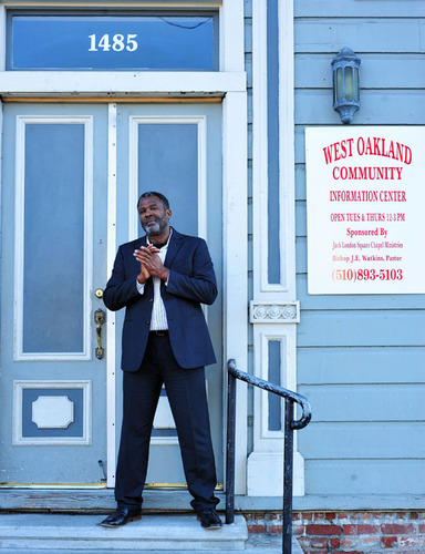 Kevin Skipper of Bay Property Group (pictured here in front of Liberty Hall in West Oakland) represented the ...