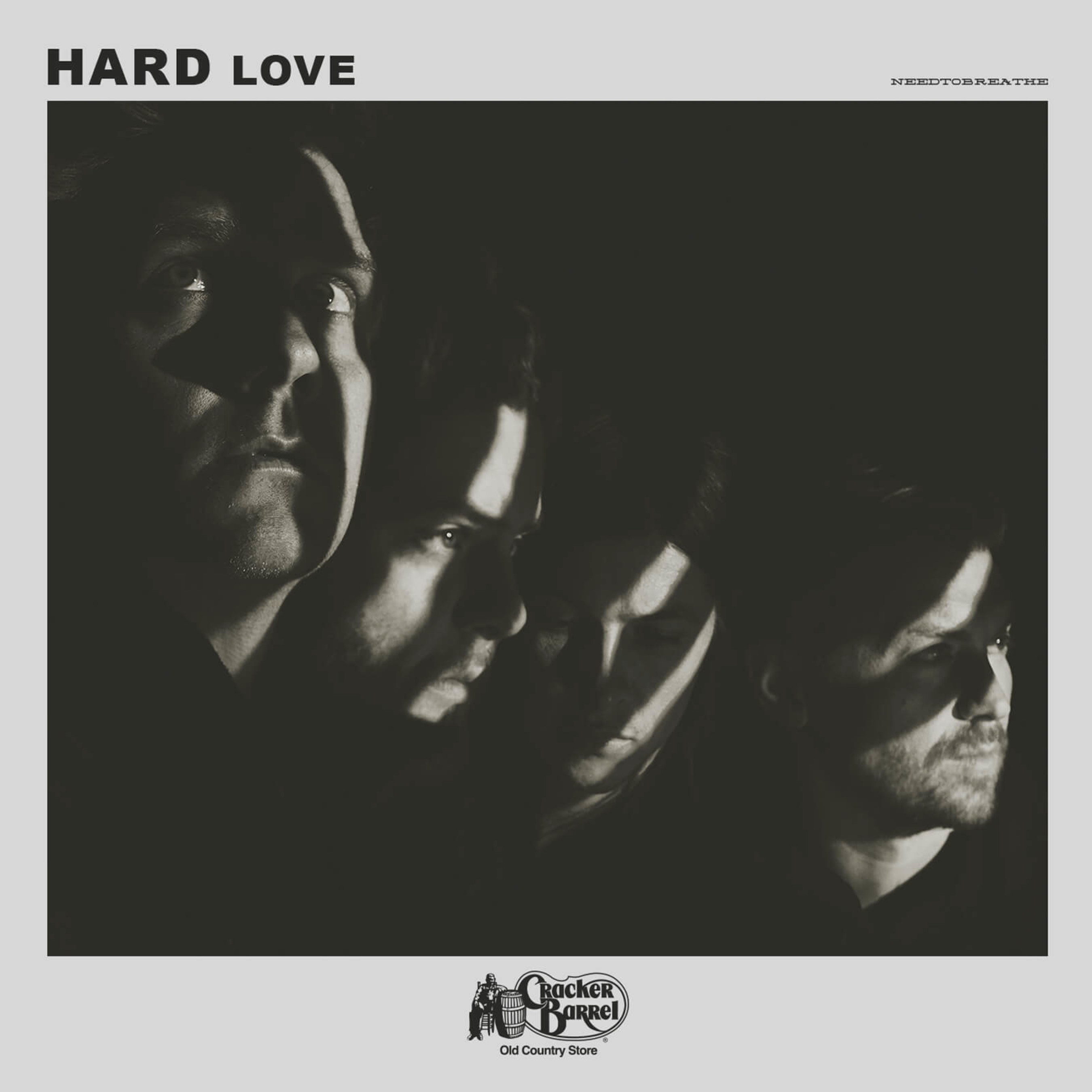 """NEEDTOBREATHE's special edition of """"H A R D L O V E"""" will be available in Cracker Barrel stores nationwide and online at crackerbarrel.com on Friday, July 15, 2016."""