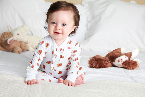 Jammies by Helene Laure for Baby Girls have an added flirty ruffle. (PRNewsFoto/Jammies by Helene Laure) ...