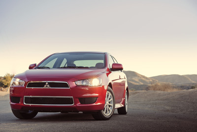"2012 Mitsubishi Lancer sports sedan named ""Top Safety Pick"" by the Insurance Institute for Highway Safety.  (PRNewsFoto/Mitsubishi Motors North America, Inc., Jason Chatterley)"