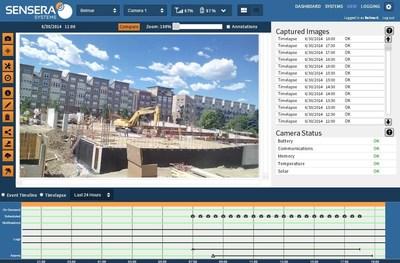 MultiSense Cloud Service - WebApp View Screen