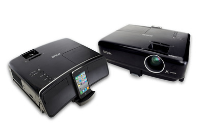 Epson MegaPlex projectors offer big screen viewing for iPod, iPhone and iPad mobile device users to share movies, photos, music, and more.  (PRNewsFoto/Epson America, Inc.)