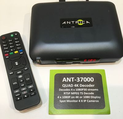 QUAD STREAM 4K / UHD VIDEO OVER IP DECODER LAUNCHED BY ANTRICA
