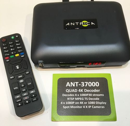 New Quad Stream 4K / UHD Video Over IP Decoder Launched by Antrica