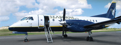 With the new San Juan - St. Kitts and Nevis route, Seaborne Airlines also announced the addition of four more 34-seat Saab aircraft in the first half of 2014.  (PRNewsFoto/Seaborne Airlines)