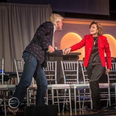 Sir Richard Branson, Ocean Gala Keynote Speaker introduces Dr. Sylvia Earle During Last Year's Inaugural Gala. Photo Credit: Ruprecht Studios
