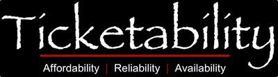 Reliability, Affordability, and Availability at Ticketability.com.  (PRNewsFoto/Ticketability, LLC)