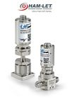 "Ultra Fast (UF) Series: ""Outstanding durability and low maintenance, as it offers over 100 million life cycles. The UF series meets the demand for high-precision diaphragm valves that can perform accurately and repeatedly over an extremely large number of cycles, required by ALD applications."""