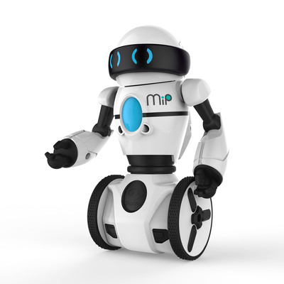 Meet MiP! the latest innovation by WowWee. Control MiP with hand gestures or drive it around using a smart device. Play games, teach MiP to dance and more, all while MiP balances on two wheels! Available May 2014.  (PRNewsFoto/WowWee)