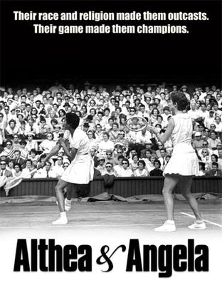 Althea Gibson and Angela Buxton on Center Court at Wimbledon in 1956.  (PRNewsFoto/Figaro Films)