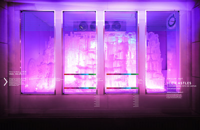 Barneys New York CHILLIN' OUT Holiday 2015 Window: Ice Castles