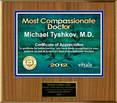 Patients Honor Dr. Michael Tyshkov for Compassion.  (PRNewsFoto/American Registry)