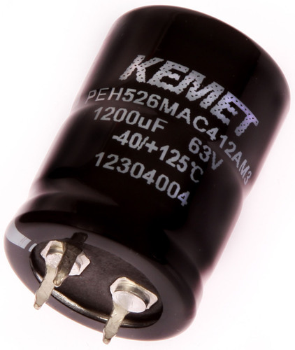 KEMET Electrolytic Snap-in capacitor, featured at Electronica 2012.  (PRNewsFoto/KEMET Corporation)