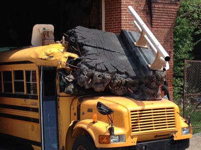 "The ""Getting Schooled on Infrastructure"" School Bus (PRNewsFoto/LIUNA)"