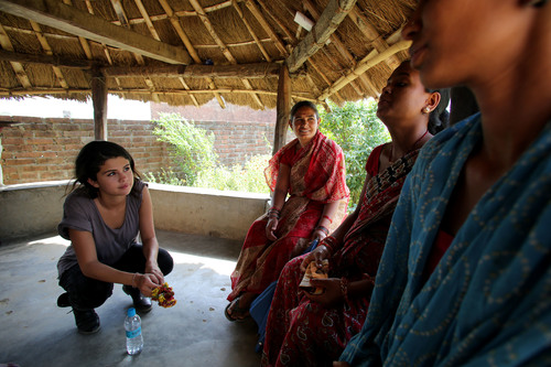 At the Gangaparaspur Health Post, UNICEF Ambassador, Selena Gomez had the chance to speak with UNICEF-supported  ...