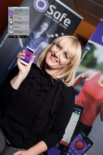 Bipper Founder Silje Vallestad with free new bSafe app topping the download charts. ...