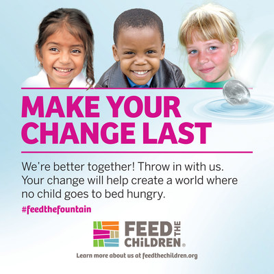 All coins tossed into the designated Feed the Children fountains at Six Flags this summer will be donated to help defeat child hunger.