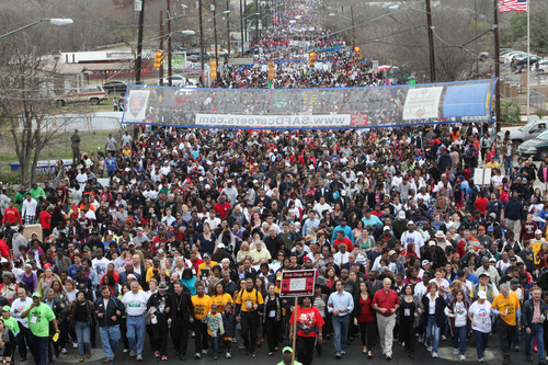 As one of the nation's largest Martin Luther King, Jr. marches, the City of San Antonio's Martin Luther King, Jr. Commemorative March celebrates its 26th anniversary on Jan. 21, 2013.  (PRNewsFoto/City of San Antonio)