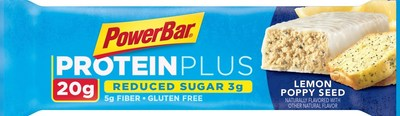 New Reduced Sugar PowerBar Protein Plus bars are made with 2g-3g per bar, used for post-workout recovery or snacking.