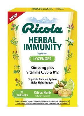 Ricola Herbal Immunity Lozenges in Citrus Herb.