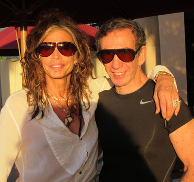 Aerosmith front man Steven Tyler and BluBlocker owner Joe Sugarman sporting the classic BluBlocker Aviators.  (PRNewsFoto/BluBlocker)