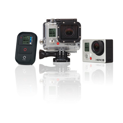 GoPro's new Wi-Fi enabled HERO3: Black Edition camera with Wi-Fi remote control.  (PRNewsFoto/GoPro)