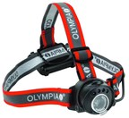 The Olympia(R) EX100 Headlamp is one of the high performance outdoor lighting products showcased at the 2015 SHOT show.  www.OlympiaOutdoors.com.