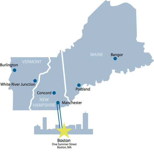 FairPoint Communications, Inc., northern New England's leading wholesale telecommunications provider, is announcing the launch of CES Extended Connect, featuring one-stop access from Boston to FairPoint's footprint in Maine, New Hampshire and Vermont.  (PRNewsFoto/FairPoint Communications, Inc.)