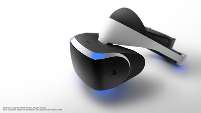 """At GDC 2014, Sony Computer Entertainment Inc. announced """"Project Morpheus""""  a virtual reality (VR) system that takes the PlayStation(R)4 (PS4(TM)) system to the next level of immersion and demonstrates the future of gaming.  (PRNewsFoto/Sony Computer Entertainment Inc.)"""