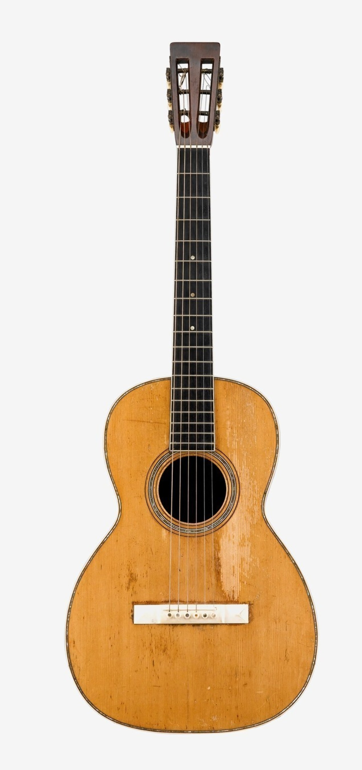 C.F. Martin Guitar, Style 0-40, c.1880, used in performances and recordings by Joan Baez 1966-68. Sold for $12,500.