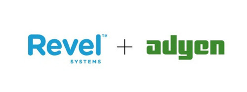 Revel Systems iPad POS & Adyen, logos.  (PRNewsFoto/Revel Systems)