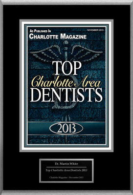 "Dr. Martin White Selected For ""Top Charlotte Area Dentists 2013"".  (PRNewsFoto/American Registry)"